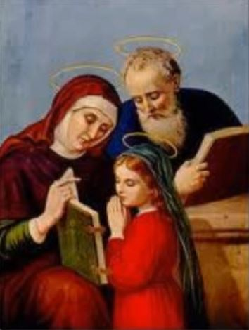JULY 26 - SAINTS ANNE AND JOAQUIN - parents of the Blessed Virgin Mary, Mother of God