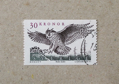 Collection Owl Postage Stamps