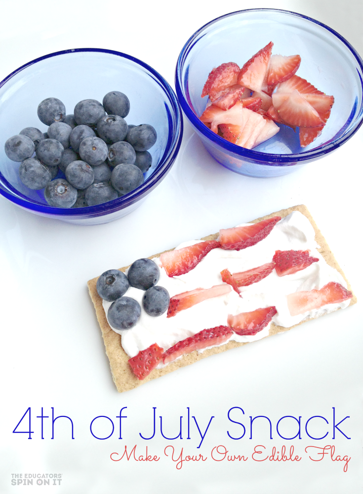 4th of July Snack Idea to create your own edible flag!