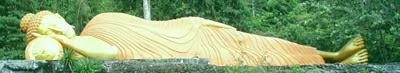 buda recostado tras un masaje thai