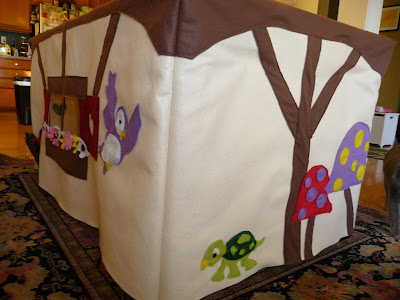 princess fort snow white woodland creatures