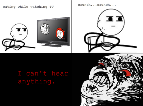 Eating While Watching TV