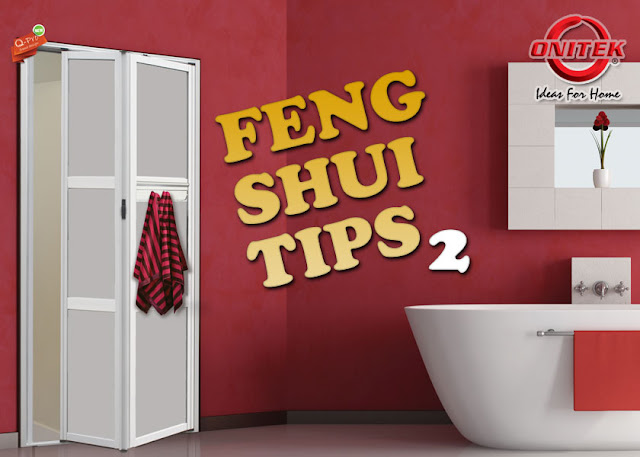 Tips 2 feng shui tips for a bathroom door facing the front for Feng shui garage