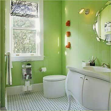 Small Bathroom Remodel Green Paint Color Design Ideas Wallpaper