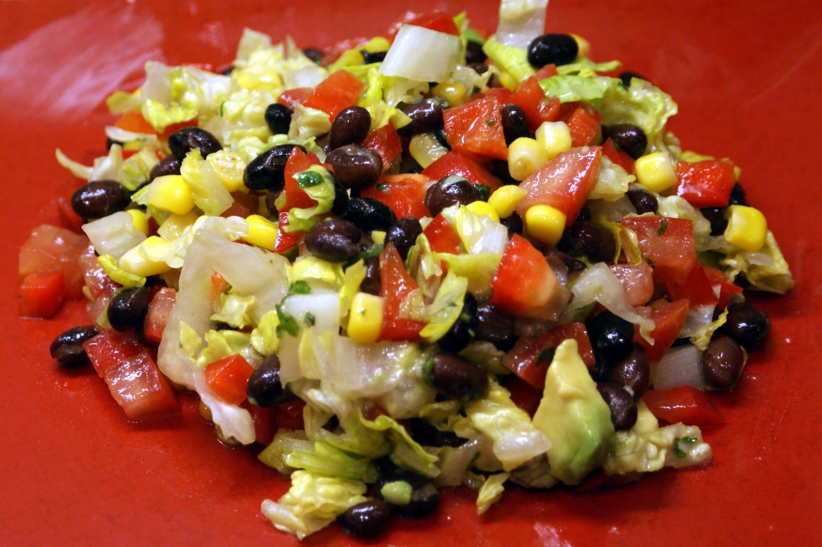 The Baker's Mann: Mexican Chopped Salad with Honey-Lime Dressing