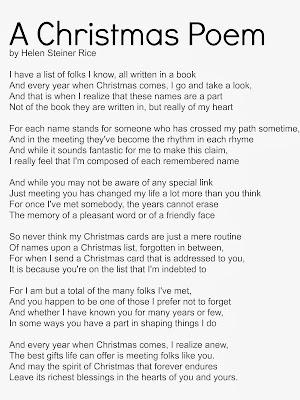 creative writing christmas poems