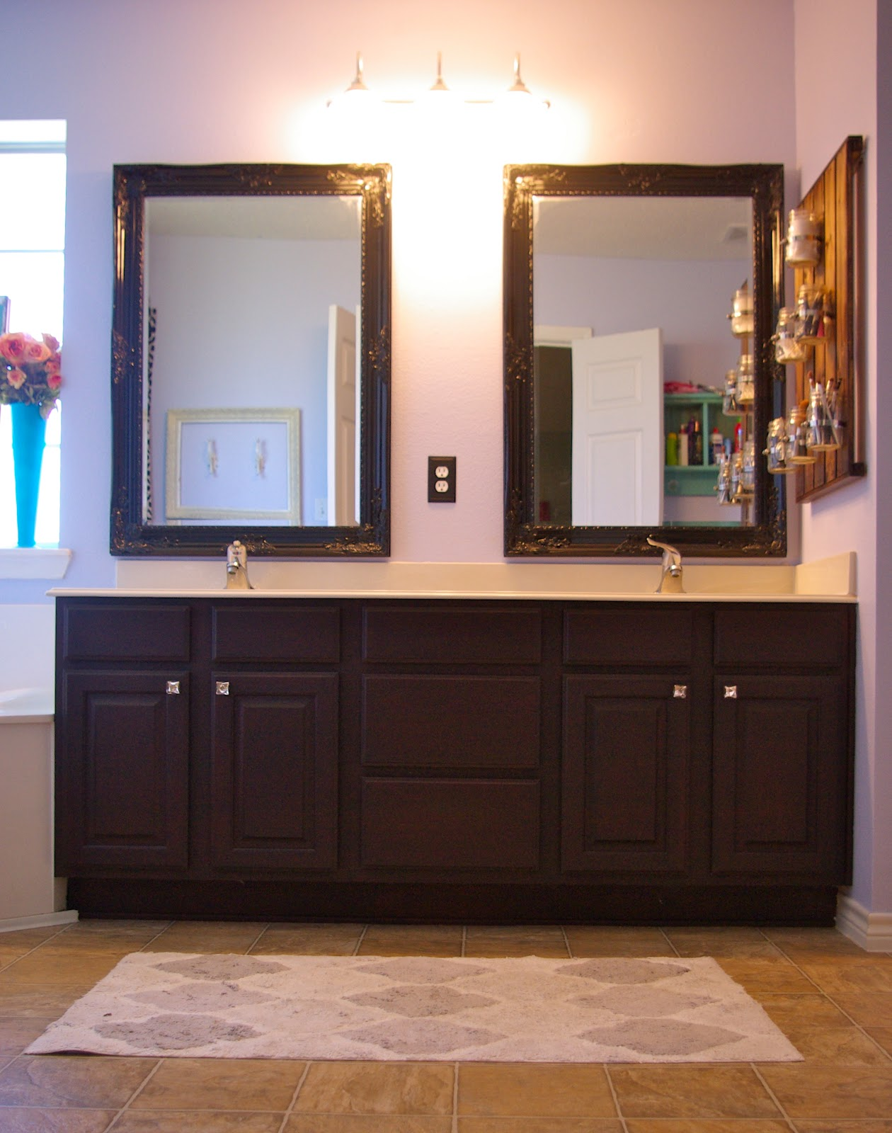 Refinished Bathroom Cabinets & Skinny Meg: Refinished Bathroom Cabinets