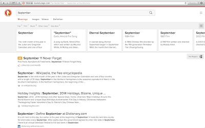 DuckDuckGo Search for 'September'