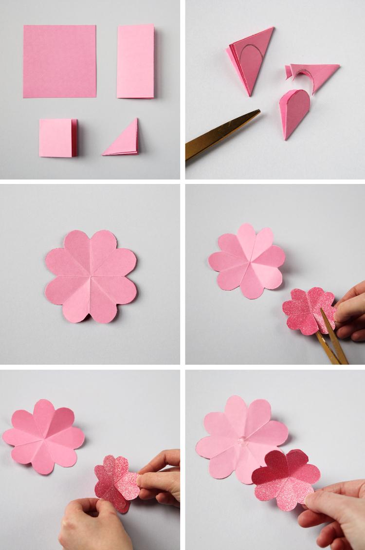 Ютуб цветы из бумаги своими руками