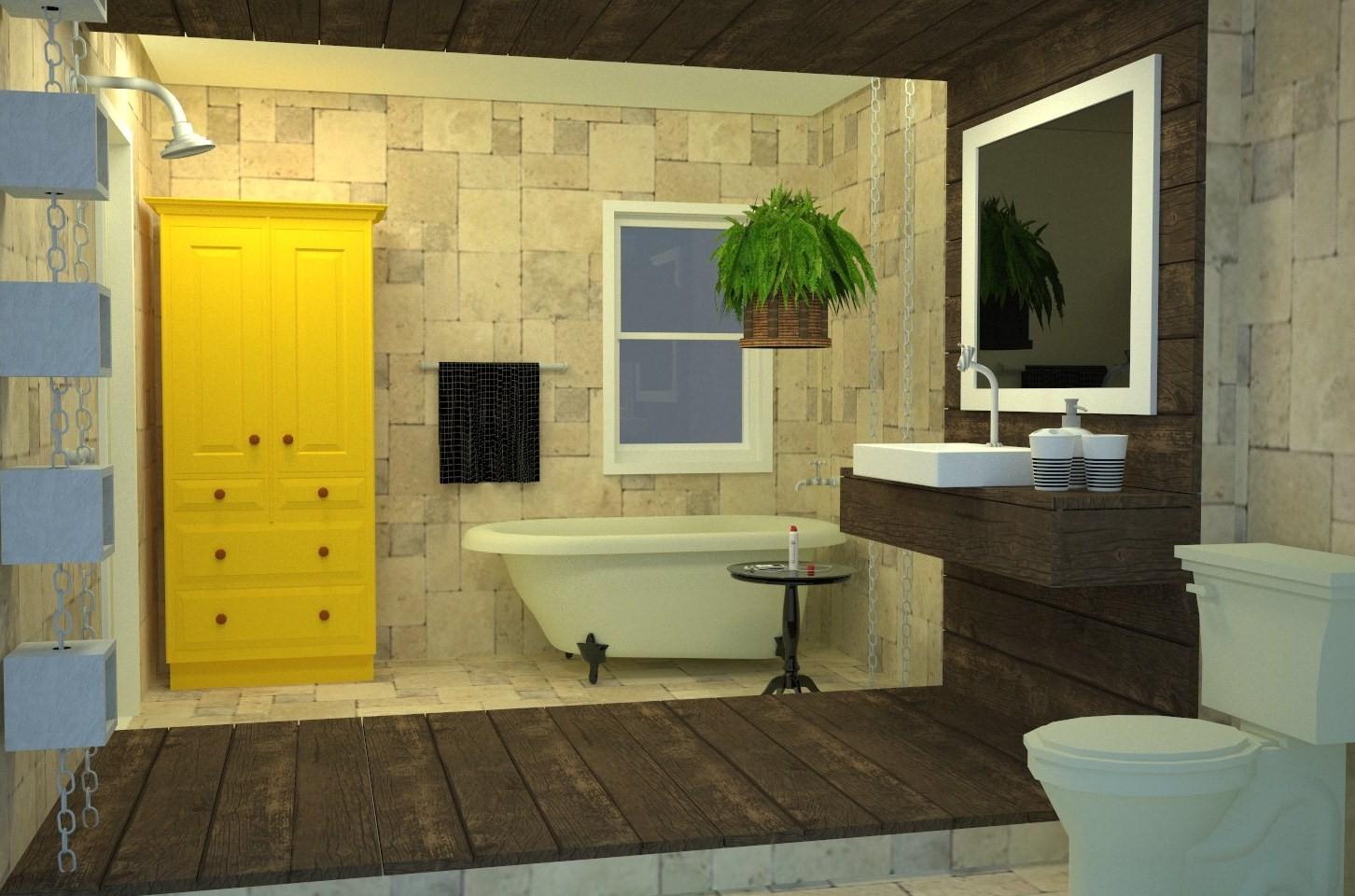 FRED FRAZÃO: Design de Interiores Banheiro Rústico #BA9911 1452 960