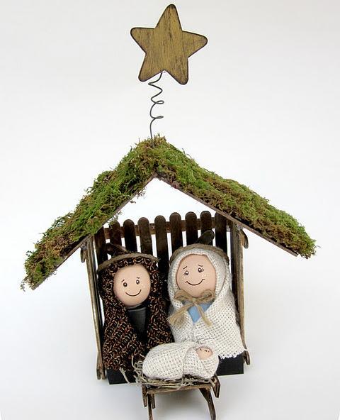 Pesebre de Belen o Natividad (manualidad reciclada)
