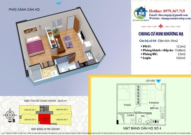 Chính chủ cần bán căn hộ ở phố Khương Đình 35 m2 560 triệu