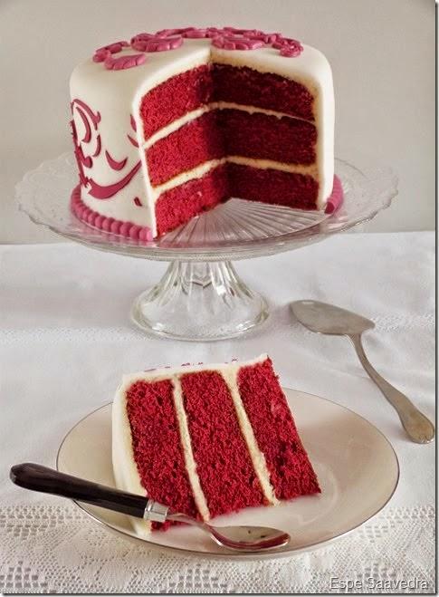 Espe saavedra en la cocina red velvet layer cake - Tarta red velvet alma obregon ...