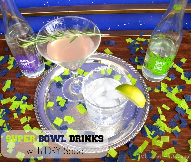 Seattle Seahawks Super Bowl drinks with DRY Soda