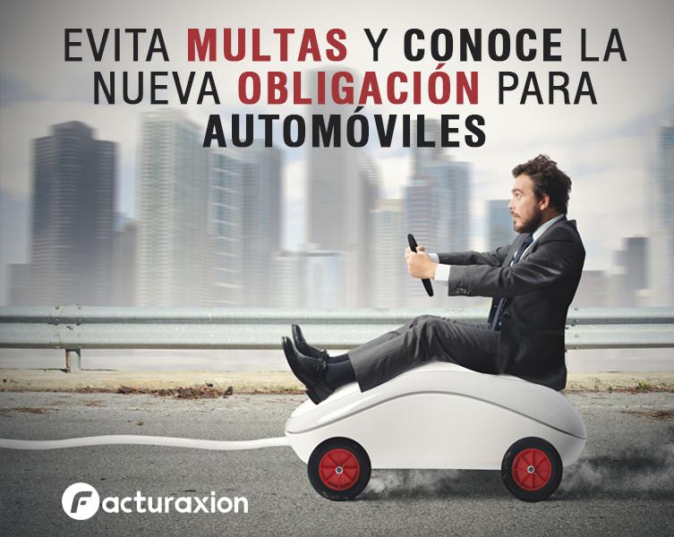 EVITA MULTAS Y CONOCE LA NUEVA OBLIGACIÓN PARA AUTOMÓVILES.