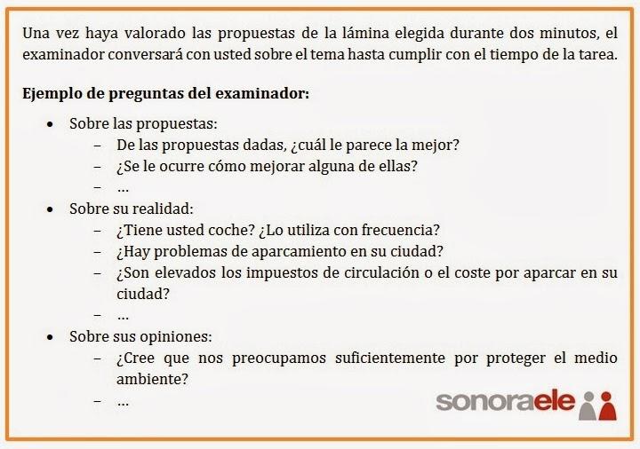 DELE B2 - PRUEBA 4 - TAREA 1 - OPCIÓN A (Conversación)