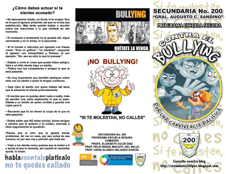 TRIPTICO DE BULLYING