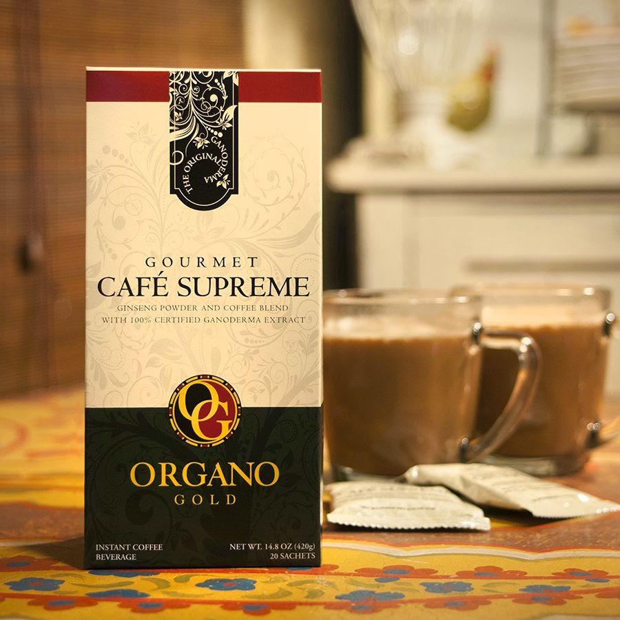 Thực phẩm chức năng Gourmet Cafe Supreme Organo Gold Cafe Nhân Sâm