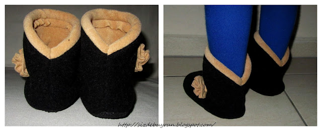 Домашняя обувь тёплая своими руками 5