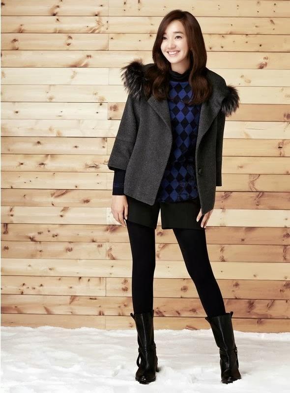 Ella modela la nueva colección invierno 2013 de le marca Olivia Lauren, de la que es imagen desde hace años.