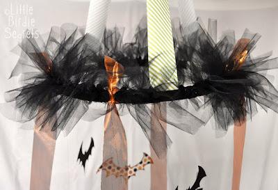 Decorazione di halloween da riciclo creativo carta e stoffa