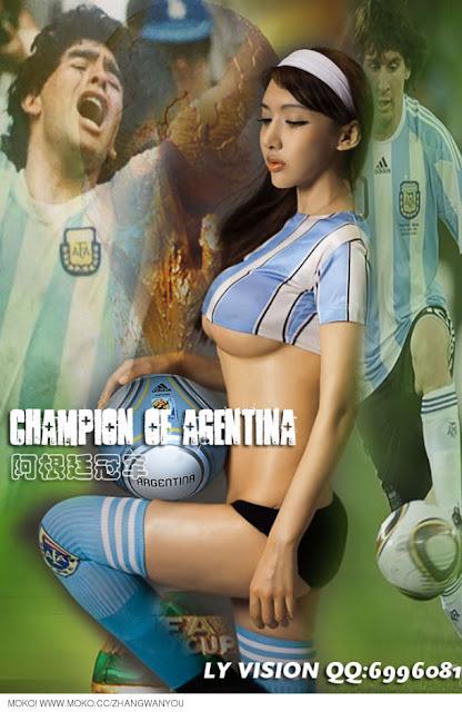 cantik dan sexy suporter argentina