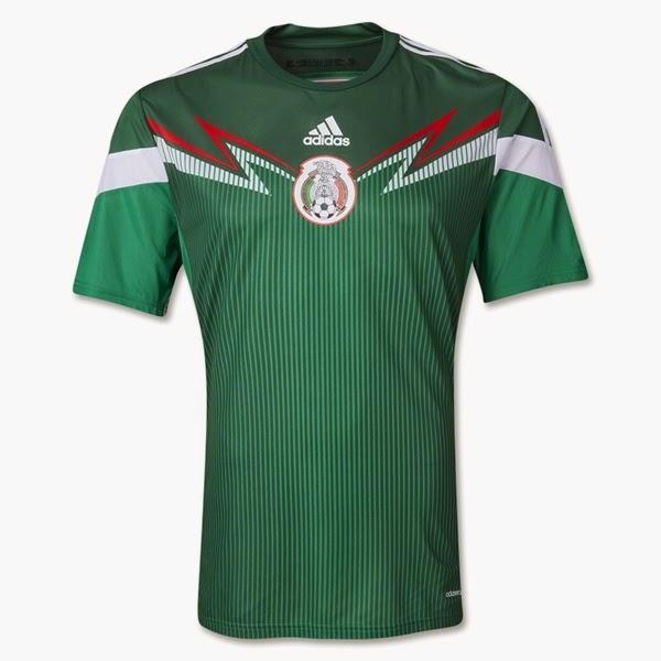 Jersey Negara Mexico - Piala Dunia 2014