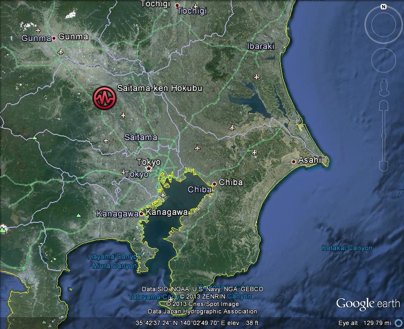 Saitama Japan  city pictures gallery : ... Meteor/Meteorite News: Saitama, Japan Earthquake MAG 4.7 14APR2013