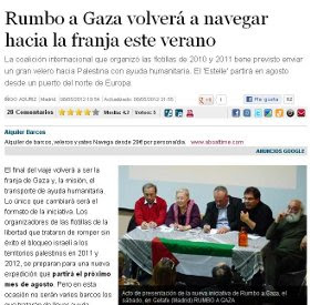 RUMBO A GAZA VOLVER A NAVEGAR.