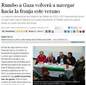 RUMBO A GAZA VOLVERÁ A NAVEGAR.
