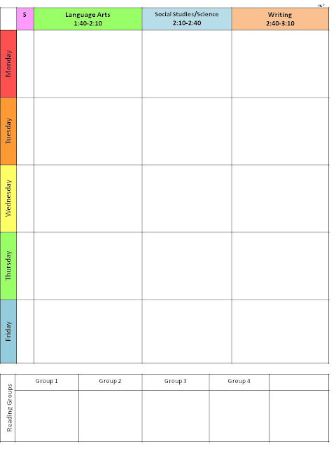 Cute Weekly Class Schedule Template The lesson plan template