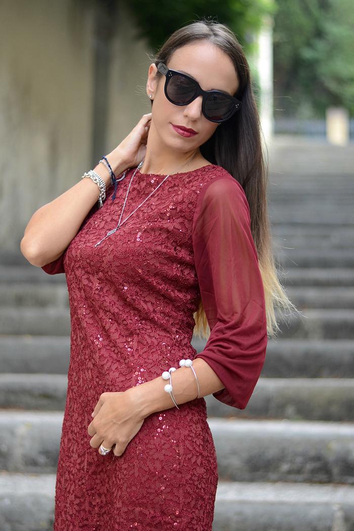 abito burgundy elegante