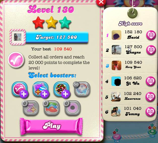Candy Crush Saga Level 130