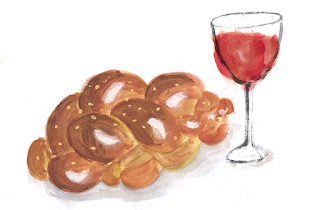 Challah Bread, Lauren Monaco Illustration
