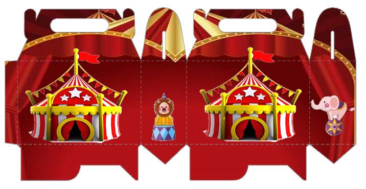 El Circo: Caja para Lunch, para Imprimir Gratis.