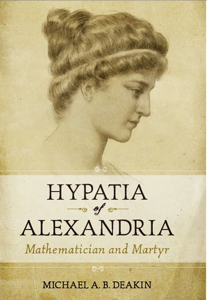 Book cover shows profile of stately middle-aged Greek woman from ancient times
