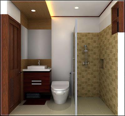 Desain Kamar Mandi Shower Minimalis Tanpa Bathtub Desainrumahnya Com