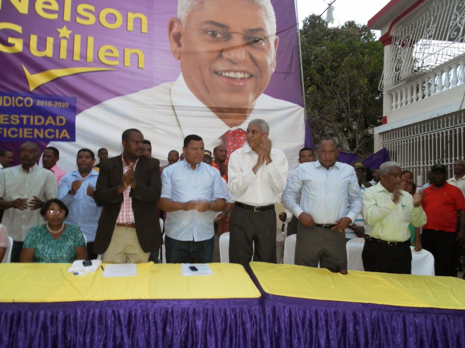 Nelson Guillén  recibe respaldo masivo en el sector de Canastica en San Cristóbal