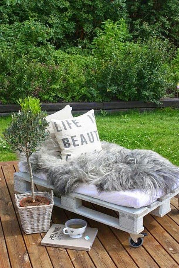 Como hacer muebles caseros y reciclar palets hogar y jardin - fotos de muebles con tarimas