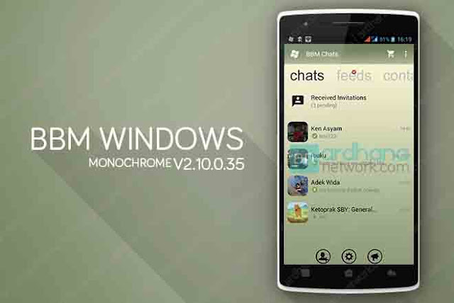 BBM Windows Phone Monochrome V2.10.0.35