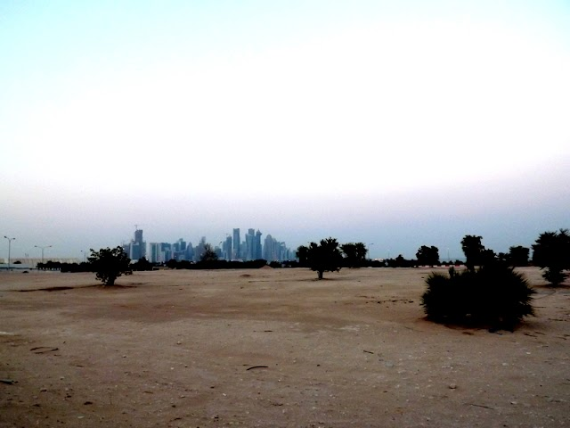 Corniche Park -beauty of Corniche Bay, Qatar