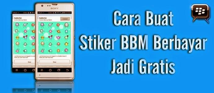 Cara Install Stiker BBM Berbayar Jadi Gratis di Android