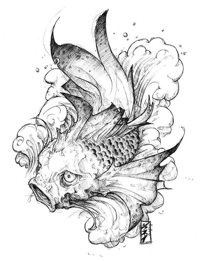 Japanese Koi Fish Tattoo Design