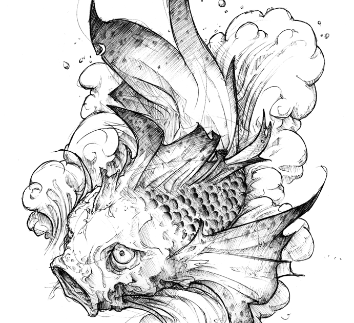 Black koi tattoos koi fish tattoo for Black koi fish meaning
