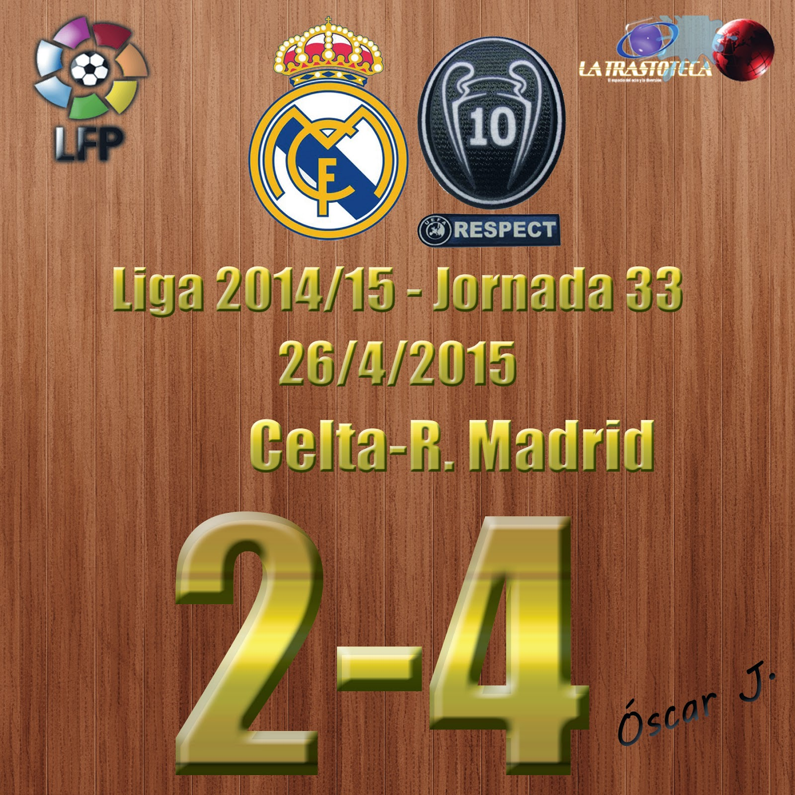 Chicharito (Doblete) - Celta 2-4 Real Madrid - Liga 2014/15 - Jornada 33 - (26/4/2015)