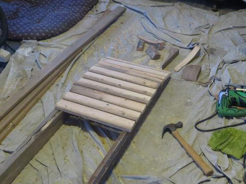 snowshoe building frame