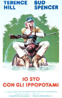 Italiensk poster for Vi holder med flodhestene (1979)