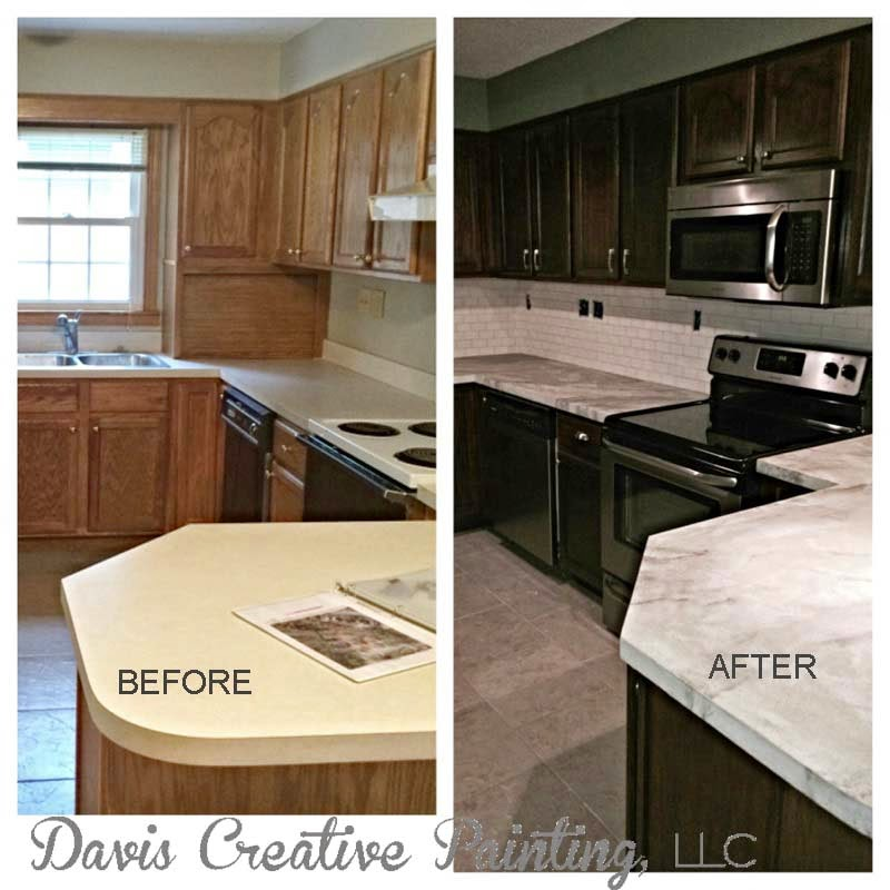 Davis Creative Painting Countertop With Concrete Overlay