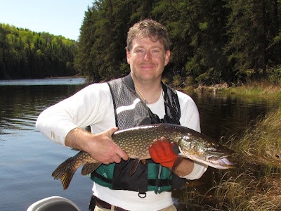 Northern pike on Red Lake, Ontario