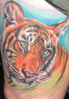 tatuagem tigre ombro